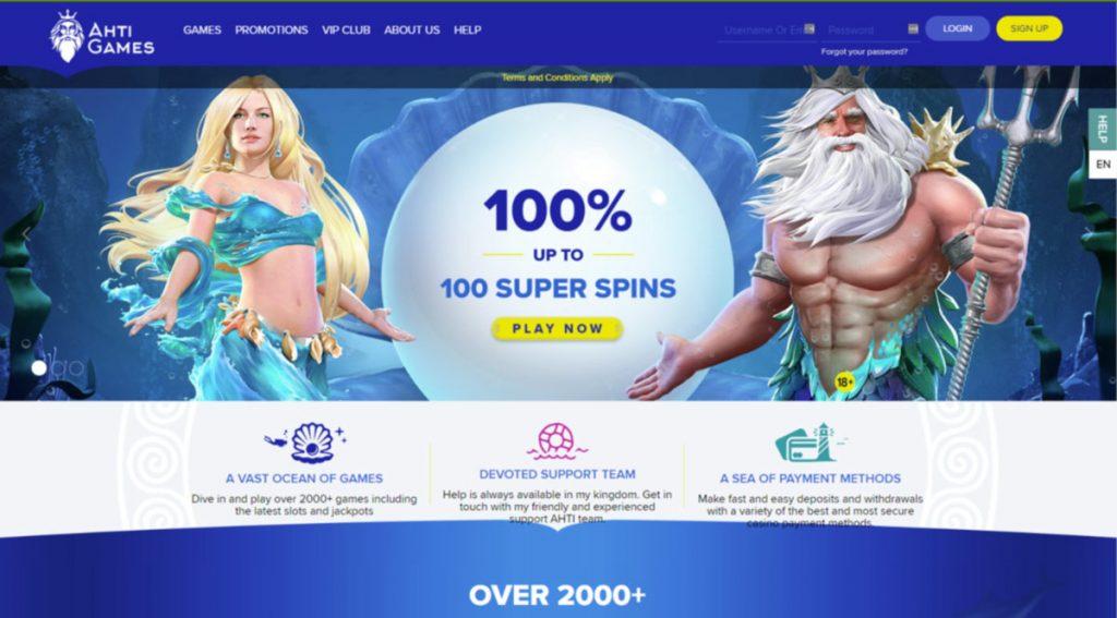 AHTI Casino login