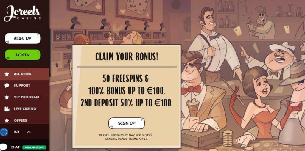 Joreels welcome bonus
