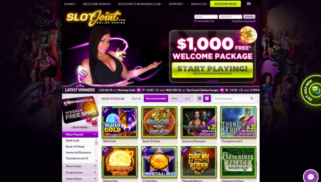 Slotjoint Casino login