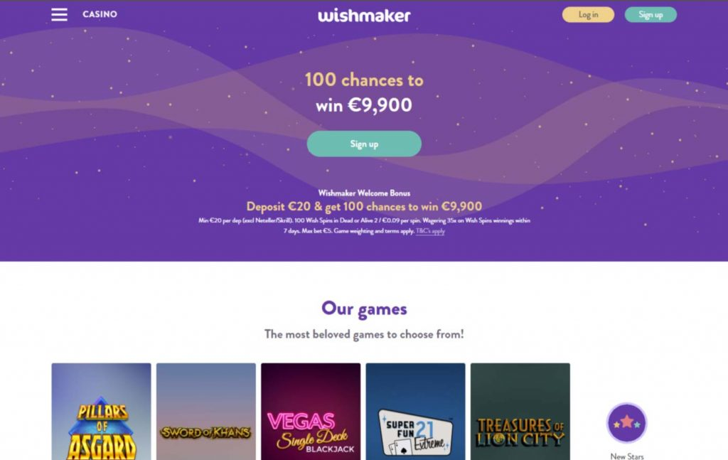 Wishmaker casino login