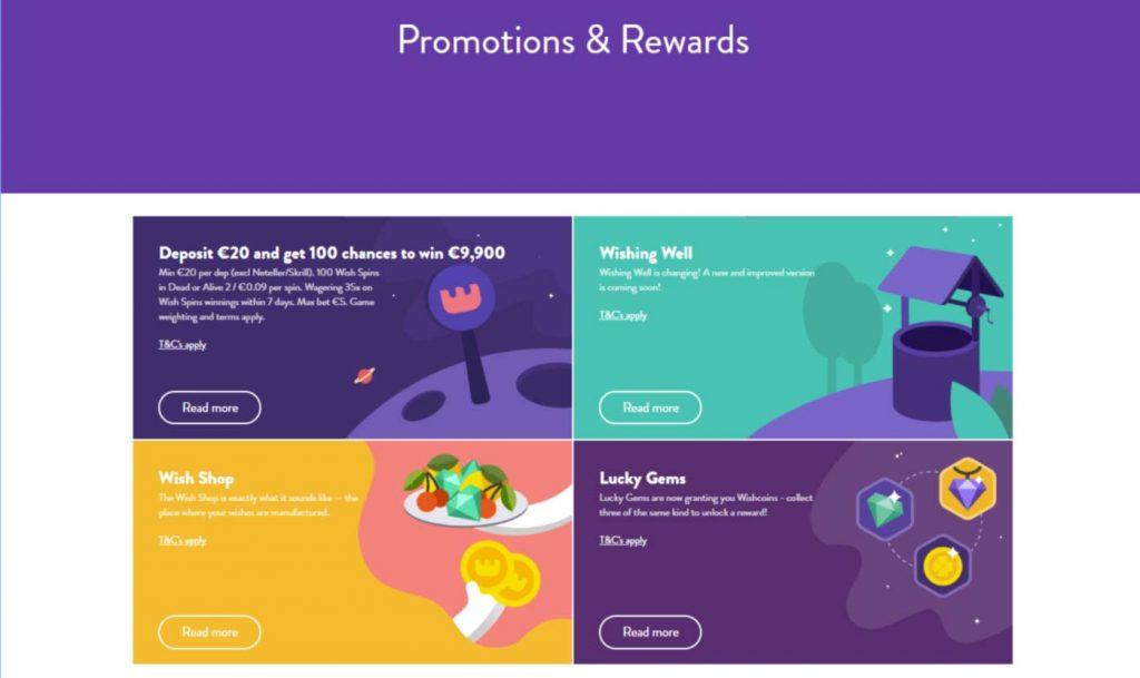 Wishmaker online casino bonus