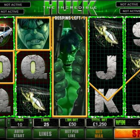 The Incredible Hulk slot game