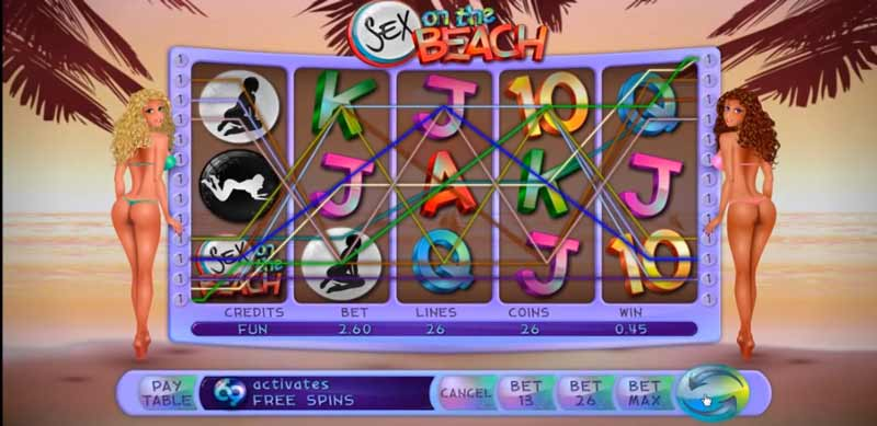 Sex on the beach - Erotic slots