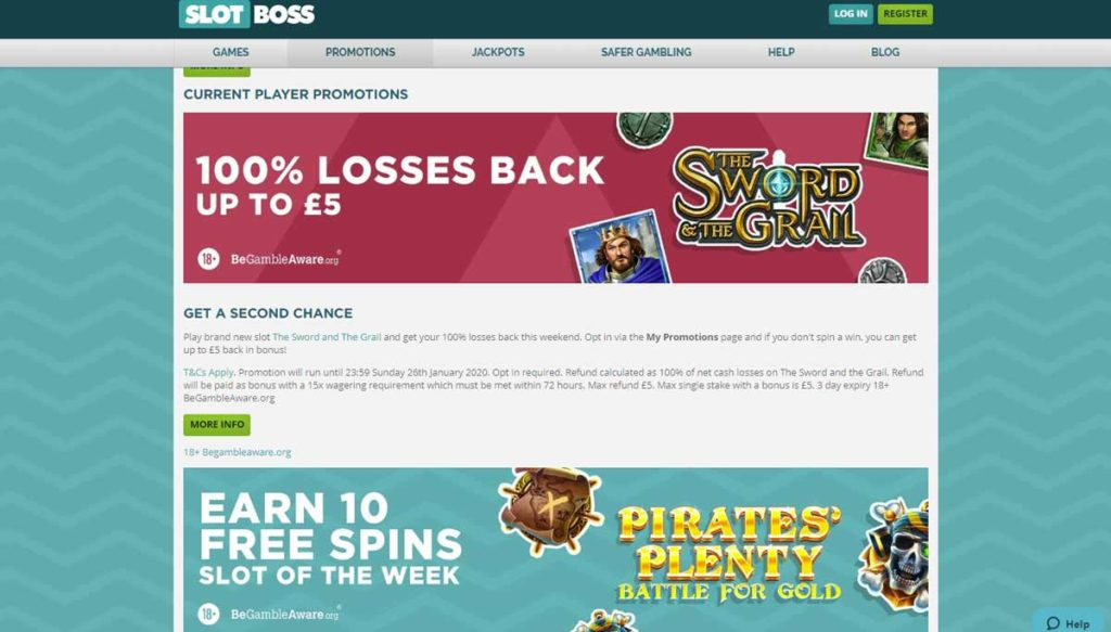 Slot Boss casino bonuses, offers and promotions