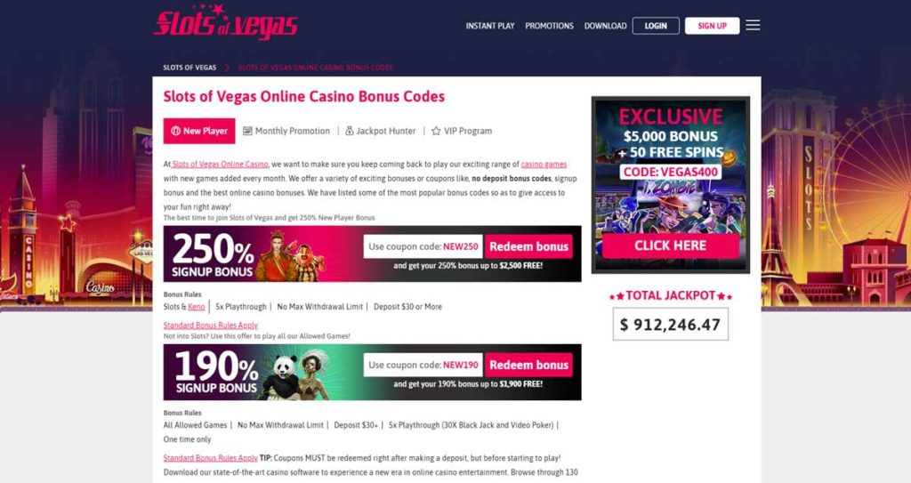Slots of Vegas bonus