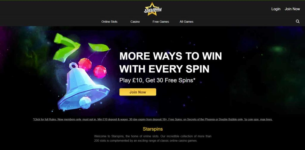 Starspins casino login