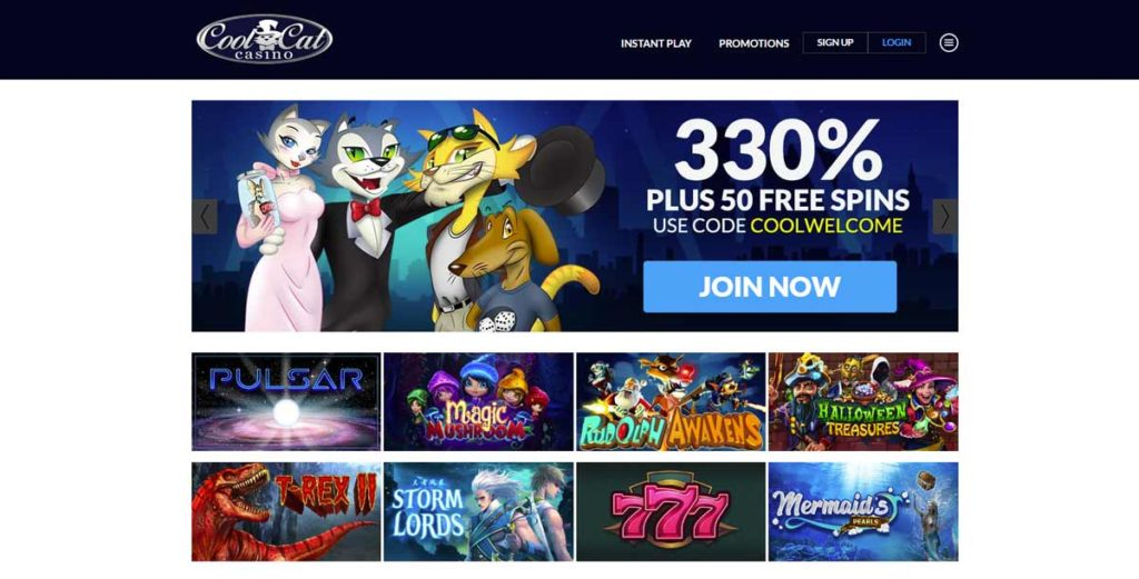 Instant Play Cool Cat Casino