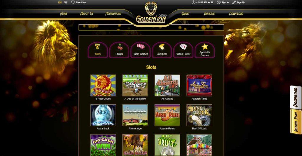 Golden Lion casino games