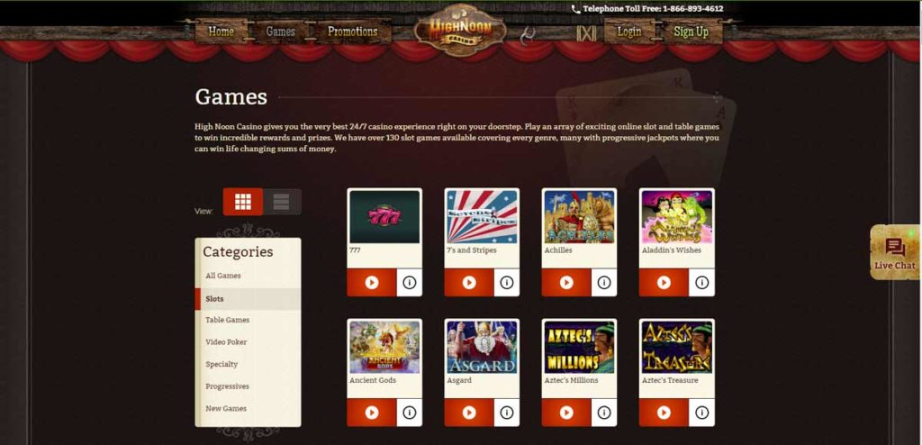 HighNoon Casino is a classic Real Time Gaming casino