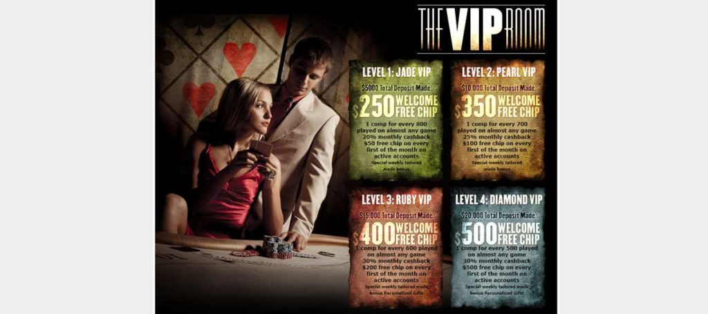 Palace of Chance casino VIP program