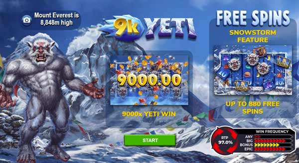 9k Yeti - 4theplayer - Highest RTP slots