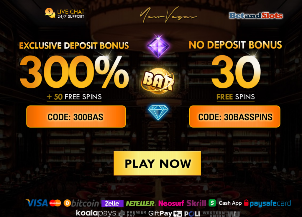 Exclusive New Vegas Casino no deposit bonus