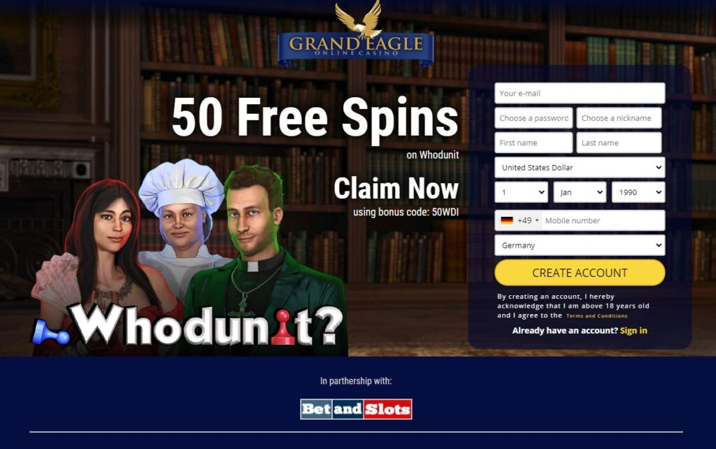 Grand Eagle Casino Exclusive Betandslots Bonus