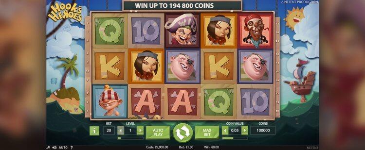 Hooks Heroes Pirate Slots