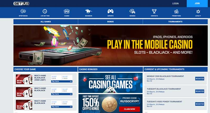 Casino games and online slots