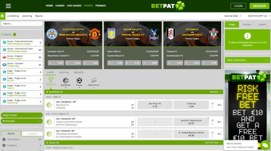 BetPat sports betting