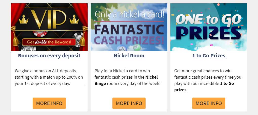 Cyberspins bonuses, offers and promotions