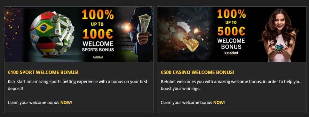 Betobet welcome bonus