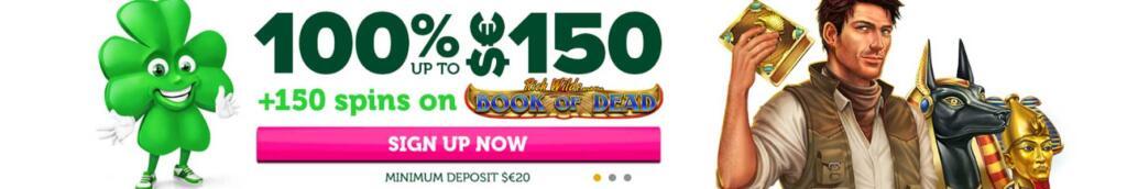 CasinoLuck welcome bonus