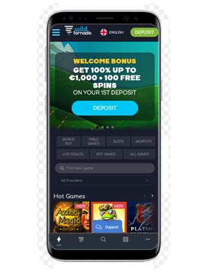 Wild Tornado Mobile casino app