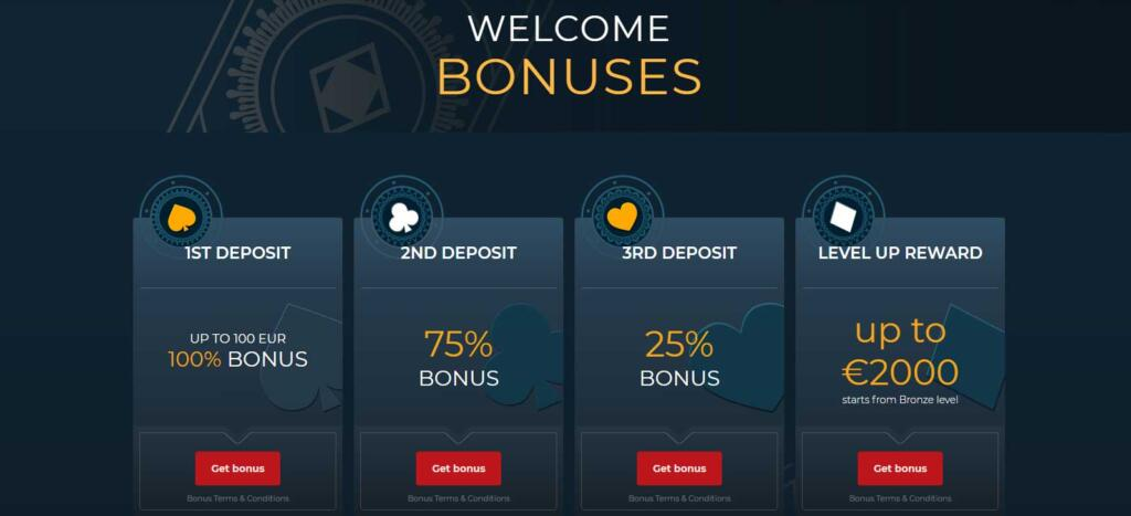 Casino4U welcome bonuses