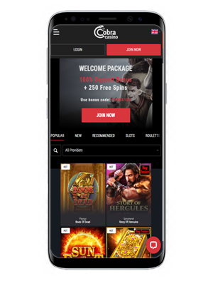 Cobra Casino mobile app