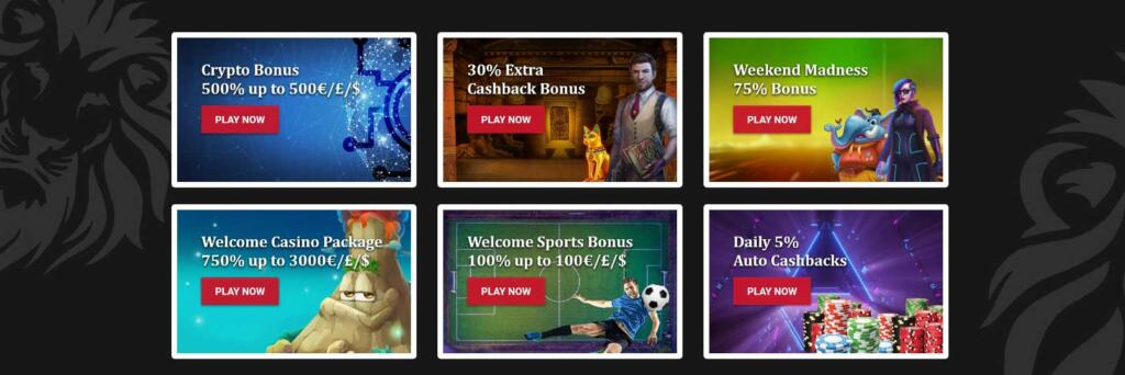 The Red Lion Casino bonuses