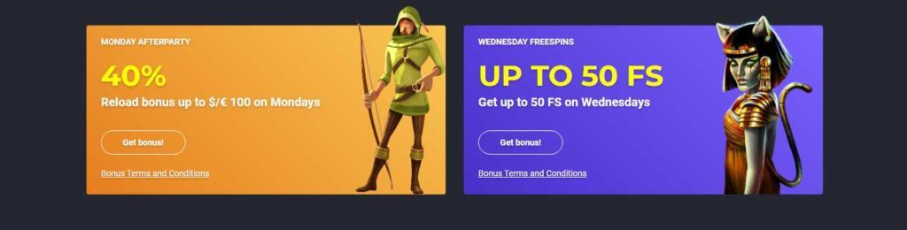 Joo casino reload bonus and offers