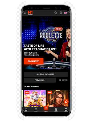 N1 mobile casino app