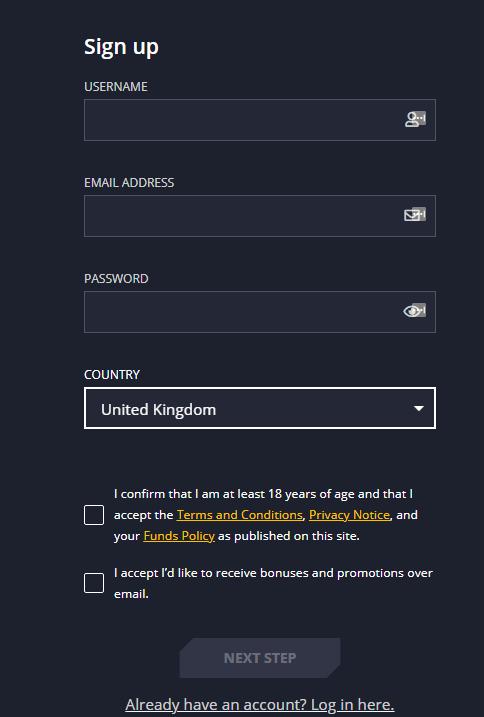 21Casino registration