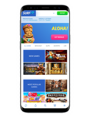 Surf mobile casino app