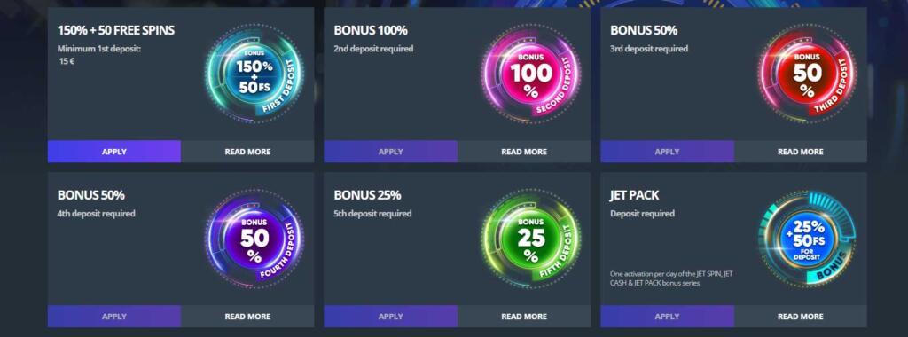 Jet Casino Welcome Bonus