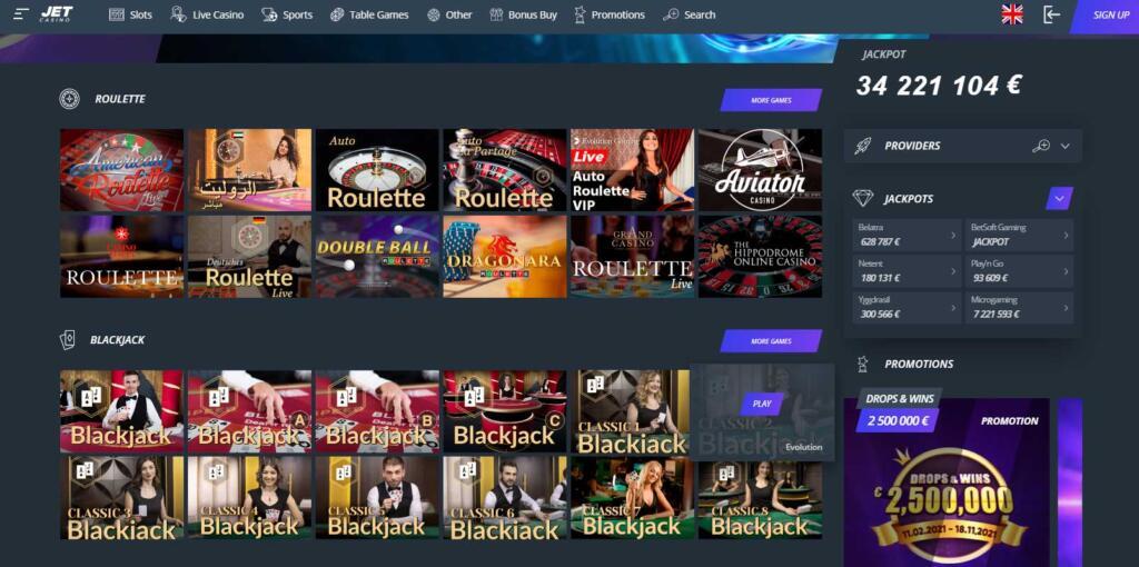 Jet Live Casino