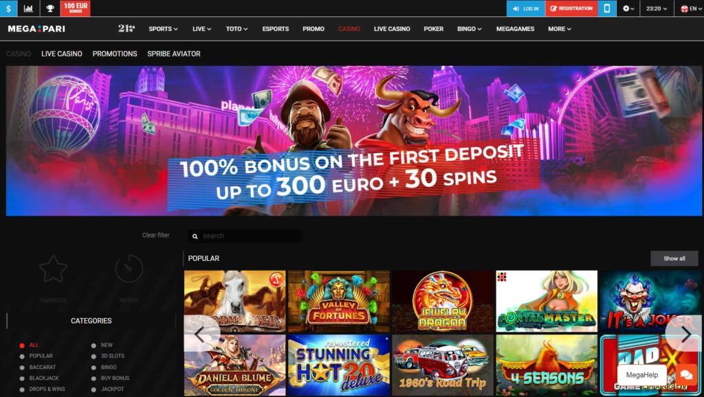 Megapari casino games