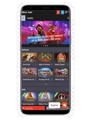 Megapari mobile app for Android