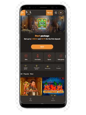 Sol mobile casino app