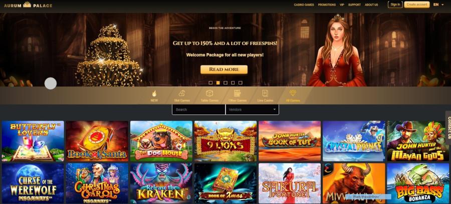 Aurum casino website
