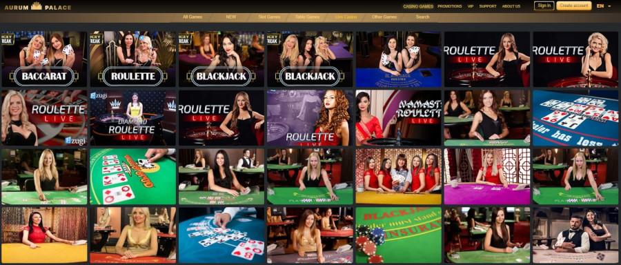 AurumPalace Live Casino