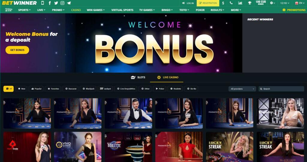 Betwinner Live Casino